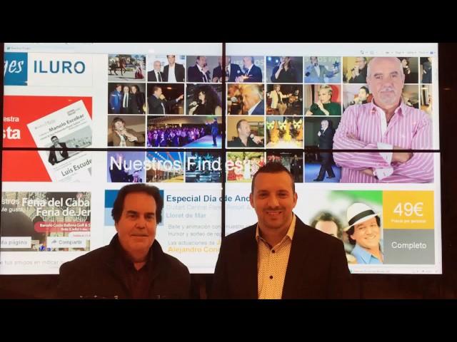 David Carrasco charla con Julio Madrid antes de su actuación con Nuestros Findes