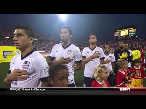 The Star Spangled Banner from the USA v Mexico game  91013