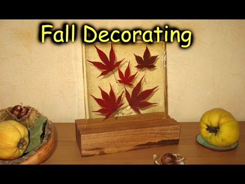Fall Decorating - Epoxy Resin Casting // How-To