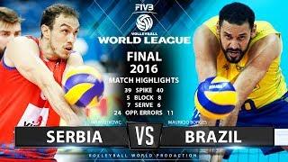 Serbia Vs Brazil | Final 2017 Fivb Volleyball World League | Match Highlights