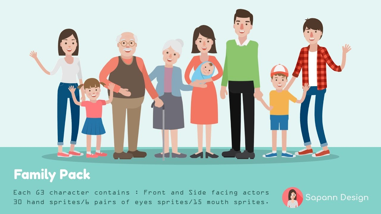 CrazyTalk Animator - Content Pack: Family Pack