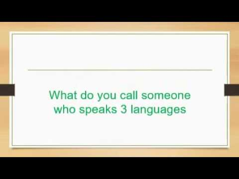 What do you call someone who speaks 1 language