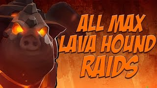All Max Lava Hound Raid | 1 Troop vs 1 Base | Clash of Clans