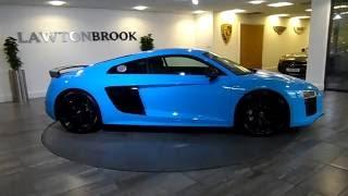 Audi R8 V10 Plus   Rivera Blue   Black  Lawton Brook