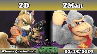 The Grind 64 ZD (Fox) vs ZMan (Donkey Kong) Winners Quarterfinals