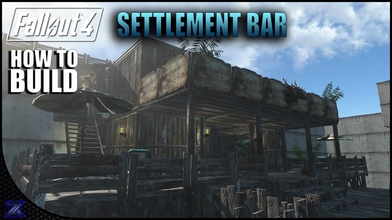 Fallout 4 how to build a bar settlement building ideas for Fallout 4 bedroom ideas