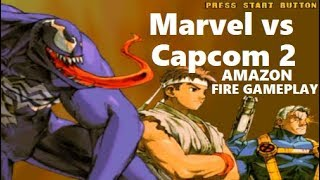 Marvel vs Capcom 2 on AMAZON FIRE Gamesir Controlle gameplay Dreamcast REVIEW