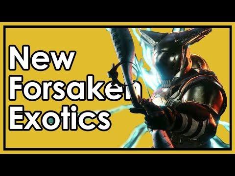 Destiny 2: New Forsaken Exotic Weapon/Armor Revealed - Preliminary Review