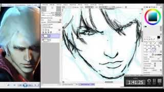 Devil May Cry 4 - Nero Speed Drawing