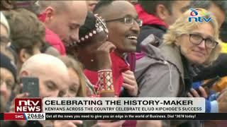 Kenyans celebrate Eliud Kipchoge's success || INEOS 1:59 Challenge