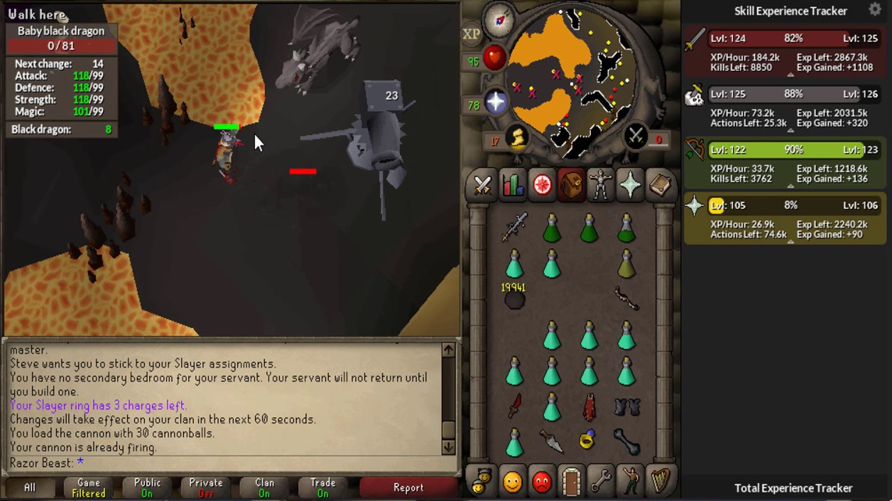 OSRS - Slaying Black Dragons 46k Xp/h - YouTube