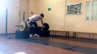 100 кг рывок с плинтов свой вес 76