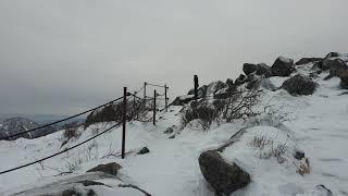 겨울  설악산