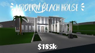 ROBLOX: Welcome to Bloxburg || Modern Beach House - $185K