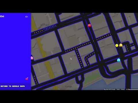 Google Maps Pacman Gameplay