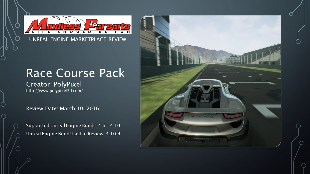 Review: PolyPixel Race Course Pack for Unreal Engine - смотреть