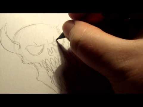 How To Draw Demon Skulls