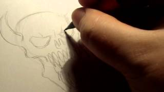 How To Draw Demon Skulls