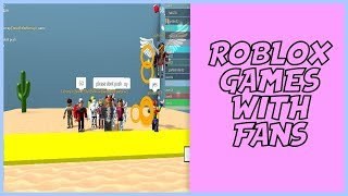 ROBLOX LIVE WITH STREAMERS! ( surprise in stream)