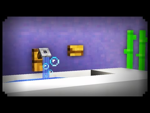 ✔ Minecraft: How to make a Working Sink
