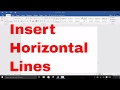 How To Insert Horizontal Lines In Microsoft Word EASY Tutorial