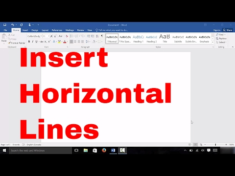 How To Insert Horizontal Lines In Microsoft Word (EASY Tutorial)