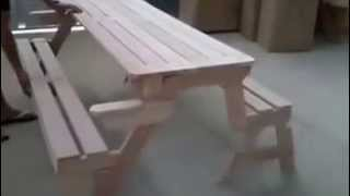 Foldable Picnic Table 2in1 / Opvouwbare Picknick Tafel - Tiptop Projecten