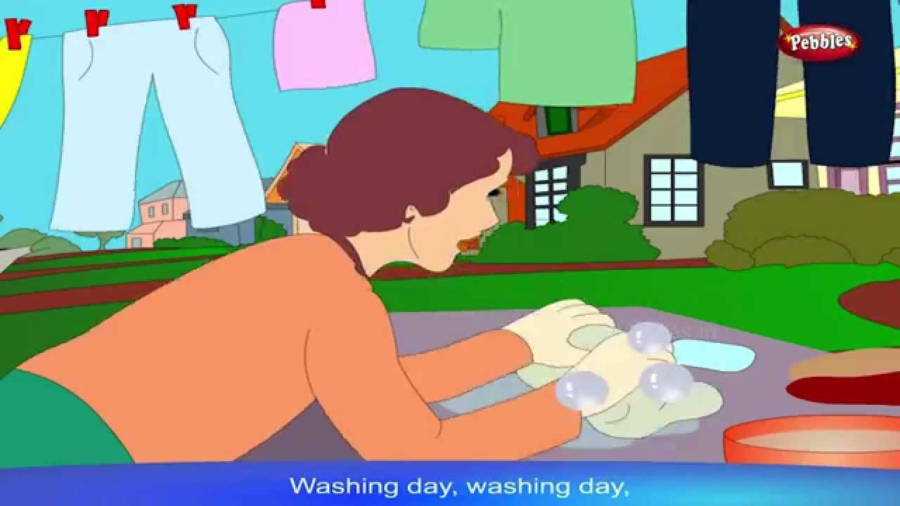 Nursery Rhymes For Kids HD | Washing Day | Nursery Rhymes For ...