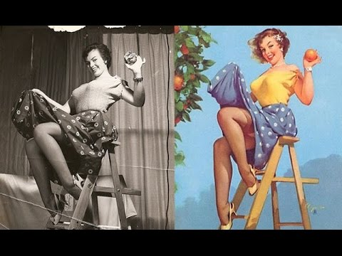 Classic Pin Up Girls Before And After Editing Youtube