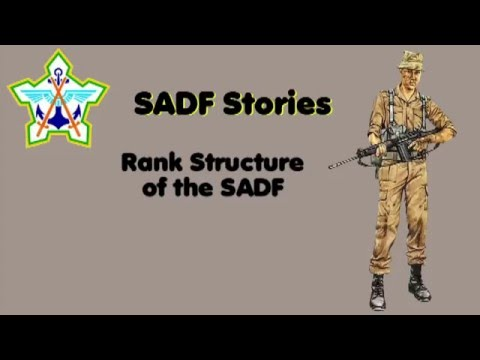 SADF Rank Structure
