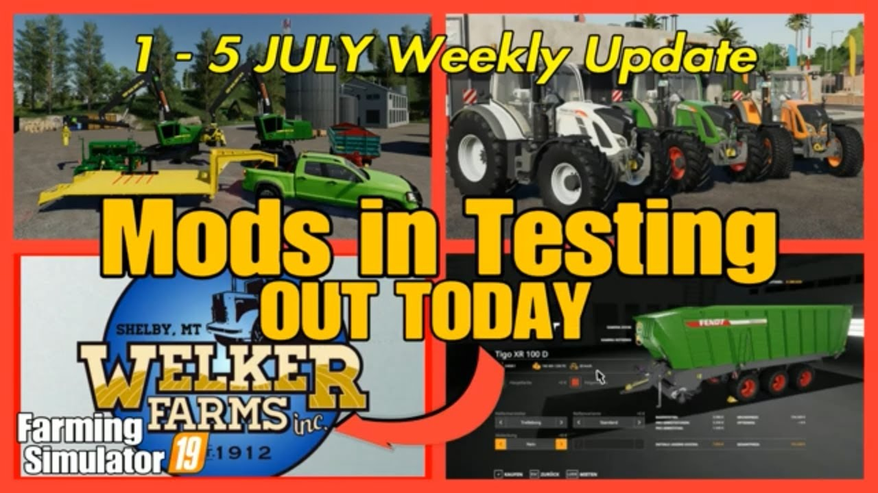 fs19 Mods in Testing list Weekly update fs19 mods farming simulator  #fs19modsreview