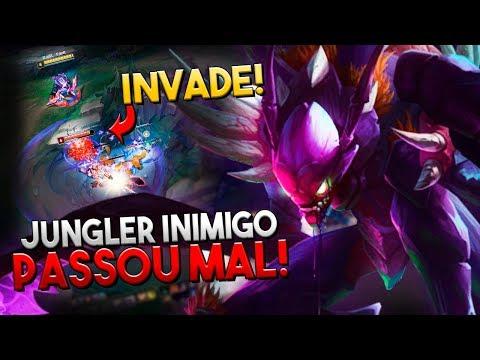 FIZ O JUNGLER INIMIGO FICAR NULO A PARTIDA TODA COM MEUS INVADES! - KHAZIX JUNGLE - RodiL