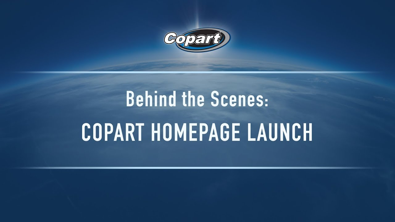 Copart Home Page >> A Look Behind The Scenes Copart Homepage Launch Youtube