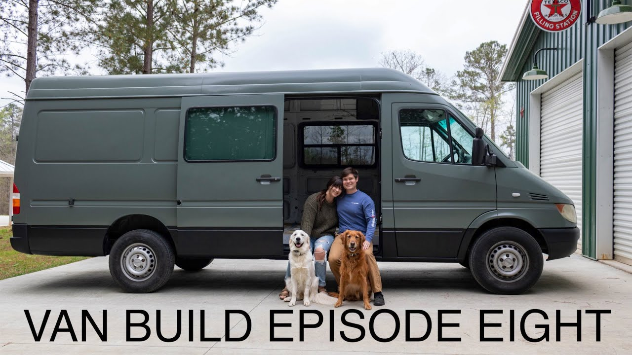 Van Build Episode 8! The End of the Restoration! Window Install // Spraying Truck Bed Liner - YouTube