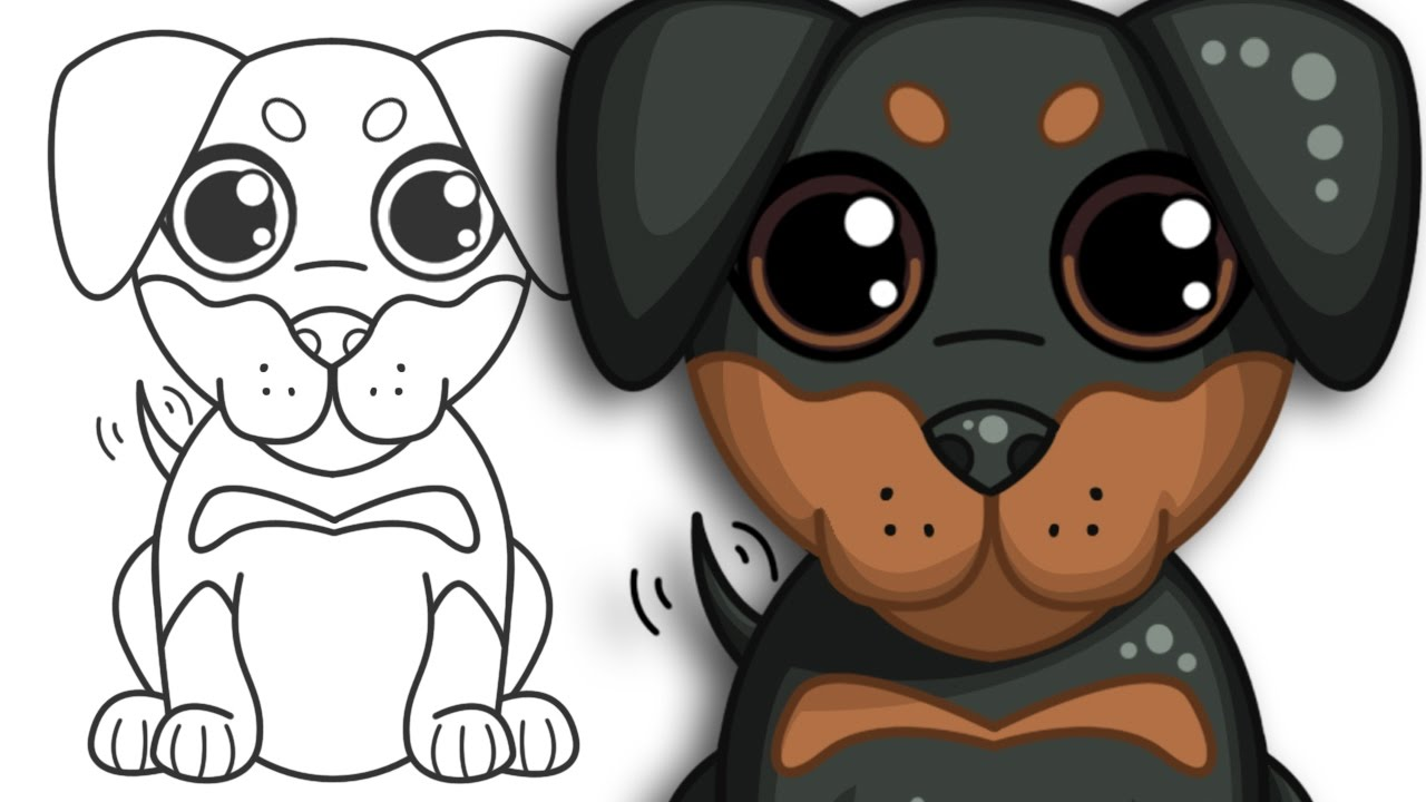 How to draw a Puppy Step by Step Drawing YouTube