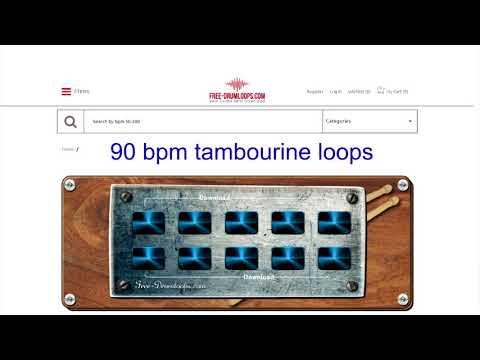 90 bpm tambourine