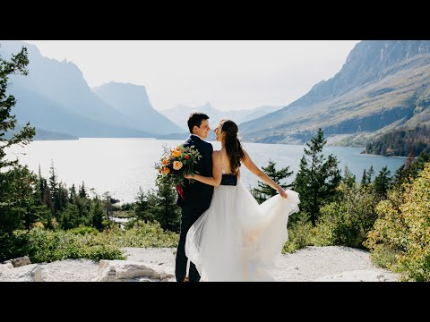I Vow To Be Your Forever Hiking Buddy | Glacier National Park Wedding