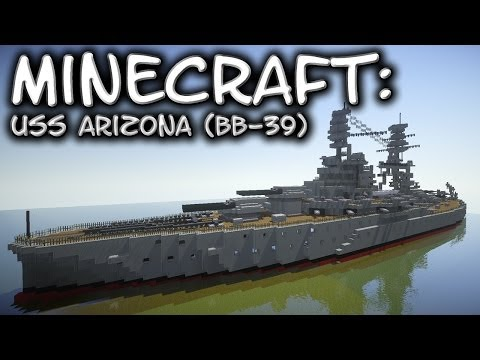 Minecraft: Battleship Tutorial (USS Arizona BB-39)