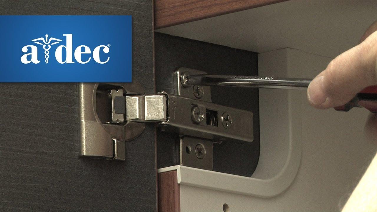 Adjust the Door Hinges in A-dec Inspire Dental Cabinets - YouTube