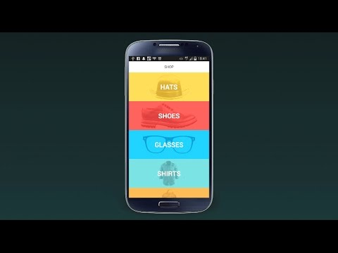 Experimental UX/UI Shop Design Android 4.4 - YouTube