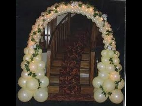 Decoraci n con globos para bodas youtube - Globos de decoracion ...