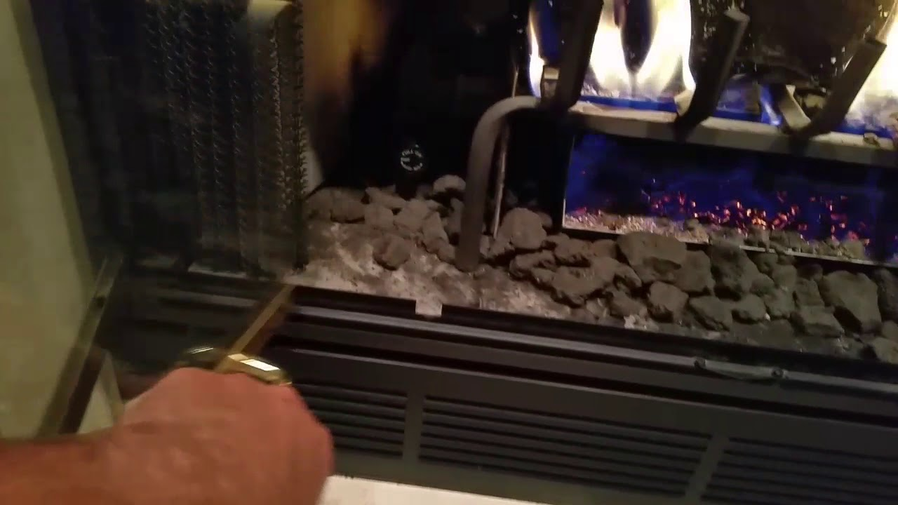 Turning Off Gas Fireplace Youtube