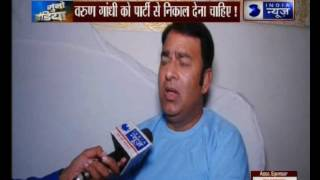 Varun Gandhi should be expelled from party says Sangeet Som
