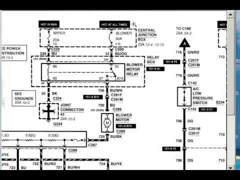 Blower Motor Runs all the Time YouTube – Kenworth T600 Ac Wiring Diagram