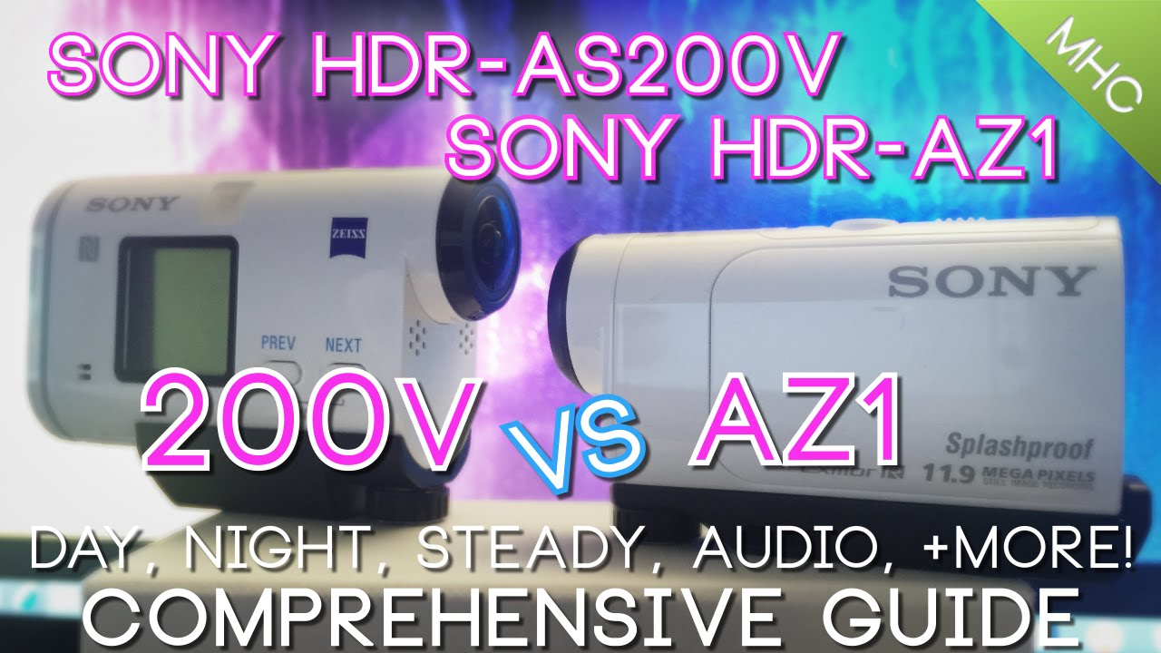 sony hdr as200v vs sony hdr az1 hd youtube. Black Bedroom Furniture Sets. Home Design Ideas