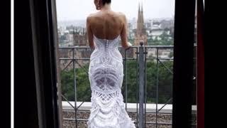 Оригинальные вязаные Свадебные платья спицами и крючком Мода взаимная подписка 2018