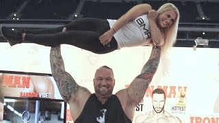 The Mountain From Game Of Thrones Shoulder Press girl