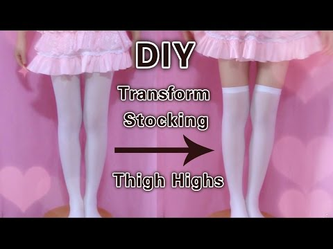 DIY - Transform Stocking To Thigh Highs (Easy)