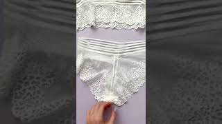 Домик моды Комплект женского кружевного белья бюстгальтер трусы подарок девушке