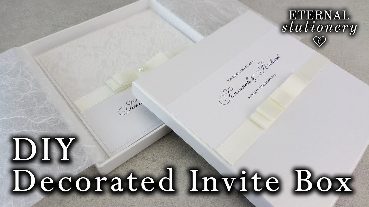 How to decorate your own invitation box with a dior bow DIY
